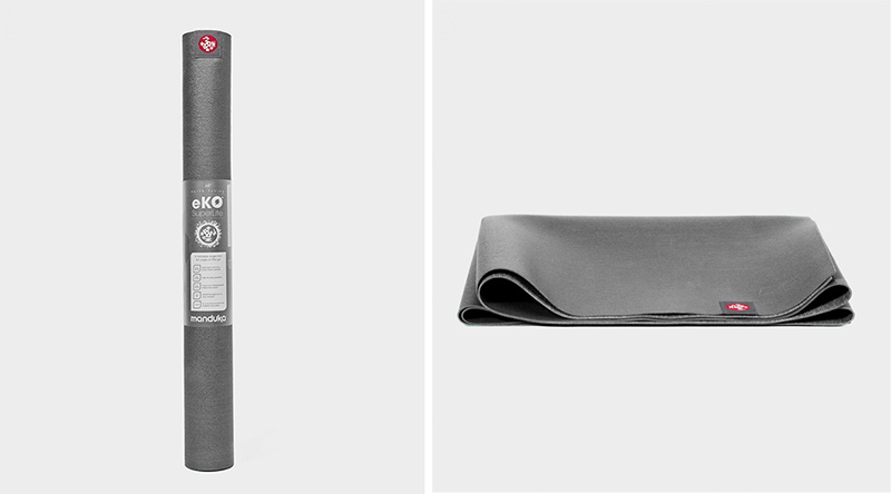 eko® superlite travel yoga mat 1.5mm charcoal (grey)